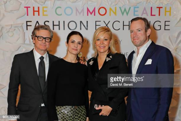 Colin Firth Livia Firth Founder and Creative Director of EcoAge Nadja Swarovski Swarovski Executive Board Member and Rupert Adams attend the VIP...