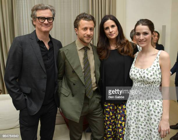 Colin Firth Livia Firth Francesco Carrozzini and Bee Shaffer attend a screening of the 'Forever Tasmania' documentary at The New York Edition on May...