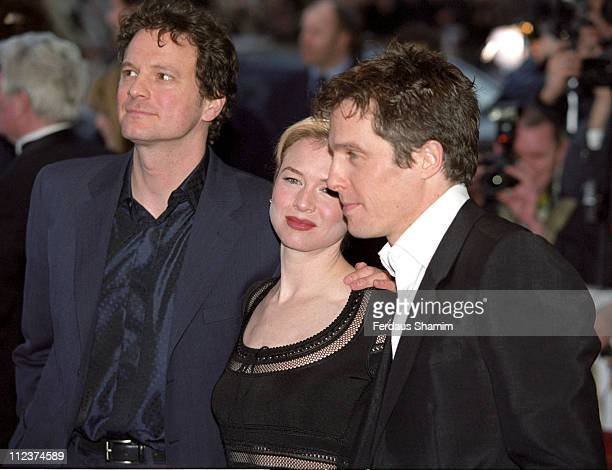 Colin Firth Rene Zellweger and Hugh Grant during Bridget Jones's Diary UK Premiere at Empire London in London Great Britain