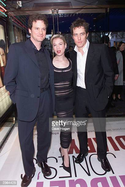 Colin Firth Renee Zellweger and Hugh Grant at the 'Bridget Jones's Diary' Premiere in London 4/4/2001 Photo by Dave Hogan/MP/Getty Images