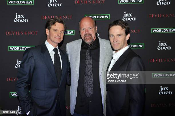 Colin Firth Rex Linn and Stephen Moyer attend Devil's Knot Cast Dinner Presented By Jax Coco At Hudson Kitchen 2013 Toronto International Film...