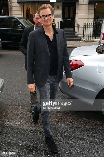 Colin Firth seen at Claridge's hotel promoting Bridget Jones' Baby on September 5 2016 in London England