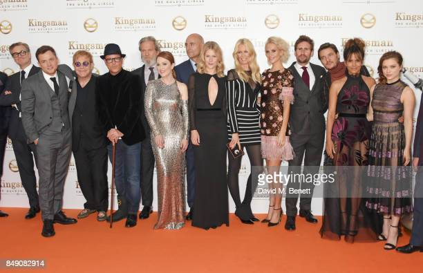 Colin Firth Taron Egerton Sir Elton John director Matthew Vaughn Jeff Bridges Julianne Moore Mark Strong Hanna Alstrom Claudia Schiffer Poppy...