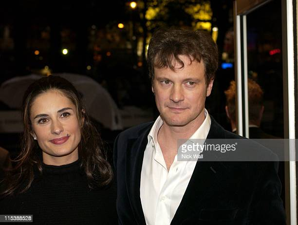 Colin Firth with his wife Livia during The Times BFI London Film Festival 2003 'The Girl With A Pearl Earing' Screening at Odeon West End in London...
