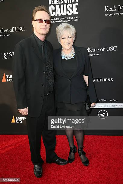 Colin Freeman and actress Lorna Luft arrive at the 3rd Biennial Rebels with a Cause Fundraiser on May 11 2016 in Santa Monica California
