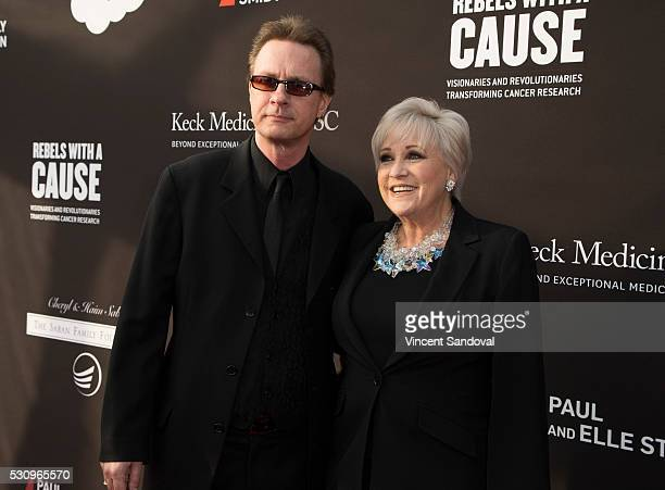 Colin Freeman and Lorna Luft attend the 3rd Biennial Rebels with a Cause Fundraiser at Barker Hangar on May 11 2016 in Santa Monica California