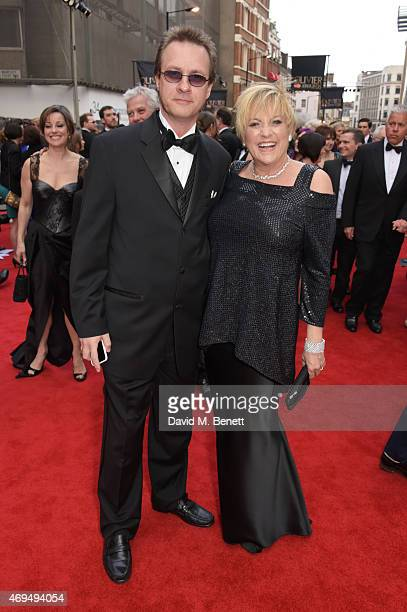 Colin Freeman and Lorna Luft attend The Olivier Awards at The Royal Opera House on April 12 2015 in London England