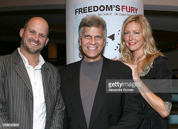 Colin Gray Mark Spitz and Megan Raney Aarons during The IDA Hungarian and Canadian Consulate Host the Museum of Tolerance's Screening of 'Freedom's...