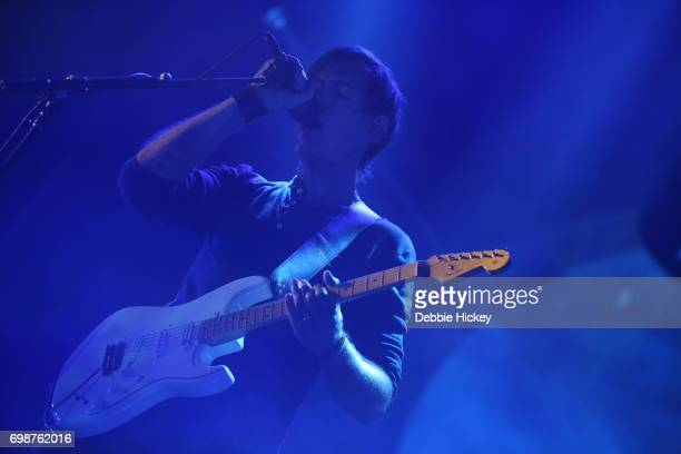 Colin Greenwood of Radiohead performs at 3Arena Dublin on June 20 2017 in Dublin Ireland