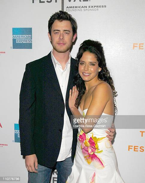 Colin Hanks and Ana Claudia Talancon during 5th Annual Tribeca Film Festival Alone With Her at AMC Loews 68th St Cinema in New York City New York...