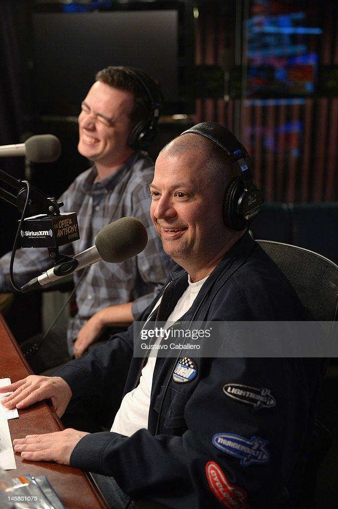 Colin Hanks and Jim Norton visits the SiriusXM Studio on June 6, 2012 in New York City.