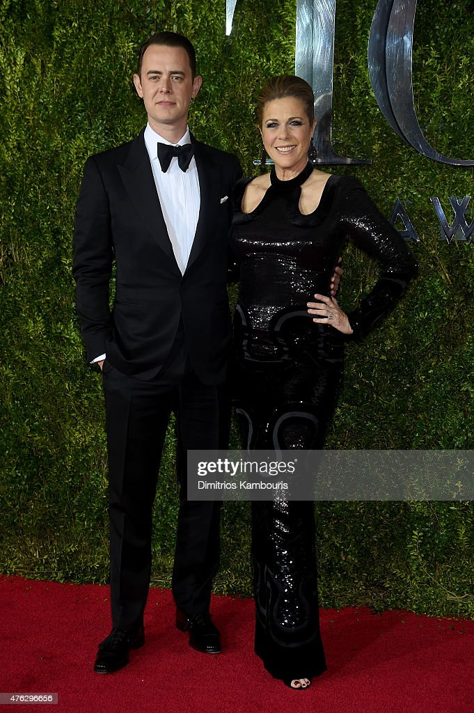 Colin Hanks and mom Rita Wilson attend the 2015 Tony Awards at Radio City Music Hall on June 7, 2015 in New York City.