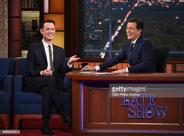 """Colin Hanks from the CBS comedy series """"Life in Pieces"""" on The Late Show with Stephen Colbert, Tuesday Jan. 19, 2016 on the CBS Television Network."""