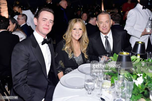 Colin Hanks, Rita Wilson and Tom Hanks attend the Academy Museum of Motion Pictures: Opening Gala honoring Haile Gerima and Sophia Loren, and Museum...