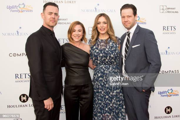 Colin Hanks Samantha Bryant Hanks Erica Hanson and Ike Barinholtz arrive for the Uplift Family Services at Hollygrove's 7th Annual Norma Jean Gala at...