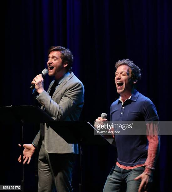 Colin Hanlon and Barrett Foa performing at the Vineyard Theatre 2017 Gala at the Edison Ballroom on March 13 2017 in New York City