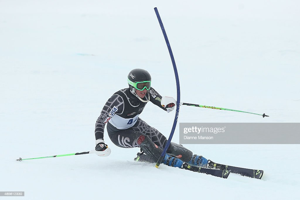 Colin Hayes of the United States competes in the Alpine Slalom - FIS Australia New Zealand Cup during the Winter Games NZ at Coronet Peak on August 29, 2015 in Queenstown, New Zealand.