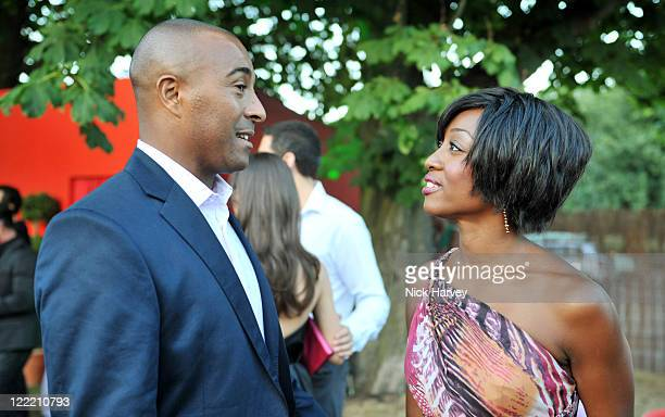 Colin Jackson and Beverley Knight attends the annual Serpentine Gallery summer party at The Serpentine Gallery on July 8 2010 in London England