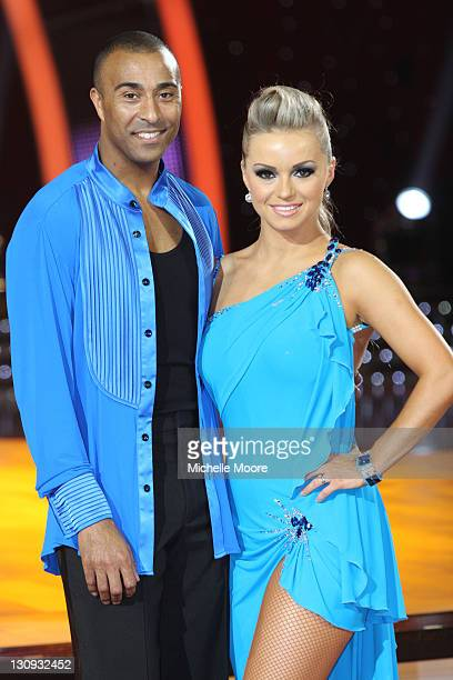 Colin Jackson and Ola Jordan attend a photocall ahead of the Strictly Come Dancing Live Tour 2011 at Nottingham Capital FM Arena on January 14 2011...