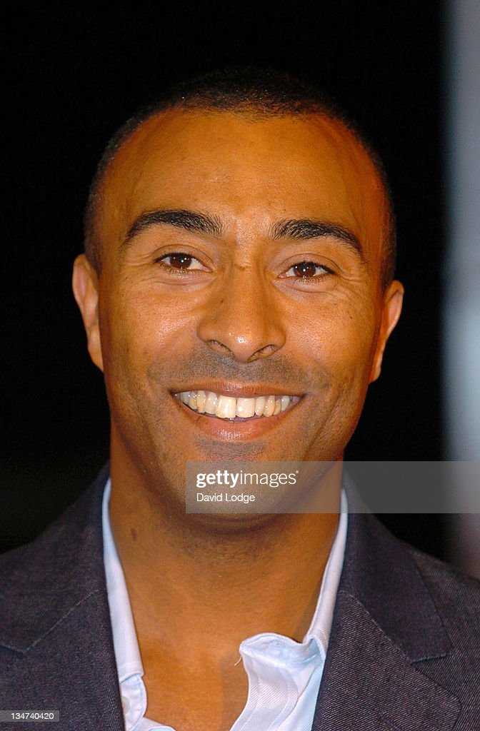 Colin Jackson during 2005 BBC Sports Personality of the Year at BBC Television Centre in London, Great Britain.