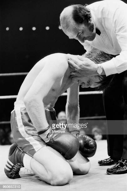 Colin Jones v Kirkland Laing for the British Welterweight Title, Commonwealth Welterweight Title. Jones won by TKO in round nine. Jones goes down...