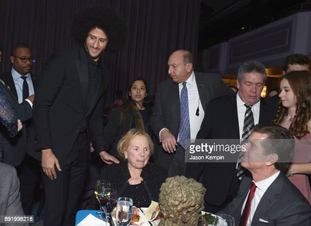 Colin Kaepernick and Ethel Kennedy attend Robert F Kennedy Human Rights Hosts Annual Ripple Of Hope Awards Dinner on December 13 2017 in New York City