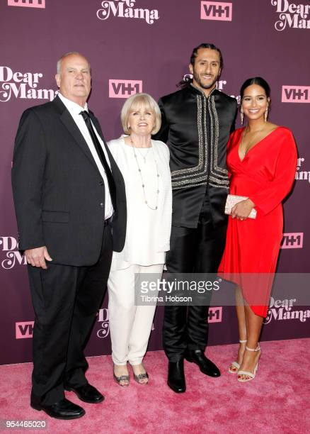 Colin Kaepernick and his family attend VH1's 3rd annual 'Dear Mama A Love Letter To Moms' screening at The Theatre at Ace Hotel on May 3 2018 in Los...