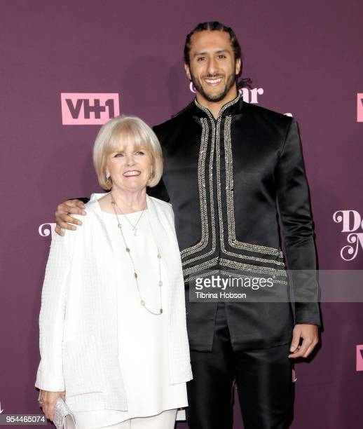 Colin Kaepernick and his mother attend VH1's 3rd annual 'Dear Mama A Love Letter To Moms' screening at The Theatre at Ace Hotel on May 3 2018 in Los...