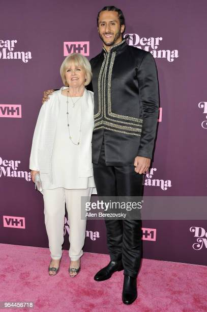 Colin Kaepernick and mom Teresa Kaepernick attend VH1's 3rd Annual 'Dear Mama A Love Letter To Moms' at The Theatre at Ace Hotel on May 3 2018 in Los...