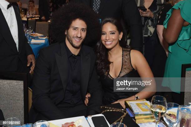 Colin Kaepernick and Nessa attend Robert F Kennedy Human Rights Hosts Annual Ripple Of Hope Awards Dinner on December 13 2017 in New York City