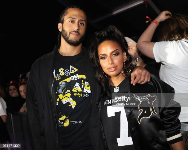 Colin Kaepernick and Nessa attend Summer Jam 2018 at MetLife Stadium on June 10 2018 in East Rutherford New Jersey