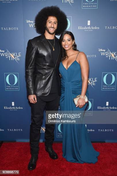 Colin Kaepernick and Nessa Diab attend as O The Oprah Magazine hosts special NYC screening of A Wrinkle In Time at Walter Reade Theater at Walter...