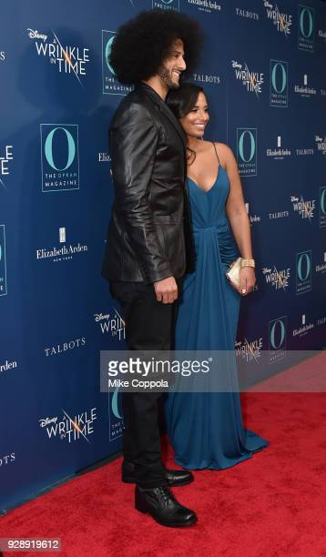 Colin Kaepernick and Nessa Diab attend as O The Oprah Magazine hosts special NYC screening of 'A Wrinkle In Time' at Walter Reade Theater at Walter...