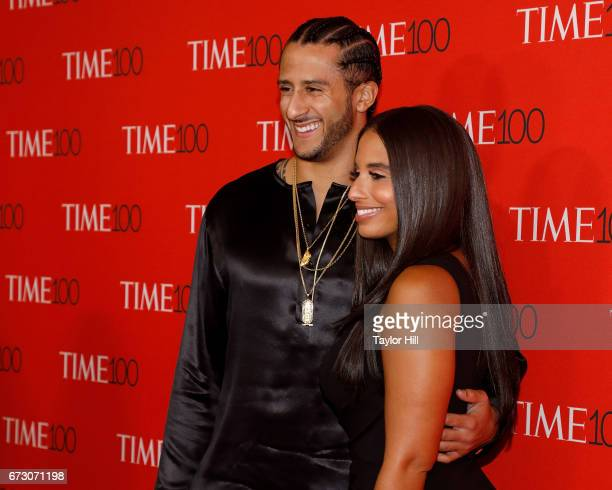 Colin Kaepernick and Nessa Diab attend the 2017 Time 100 Gala at Jazz at Lincoln Center on April 25, 2017 in New York City.