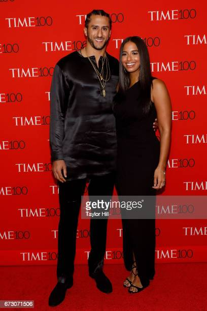 Colin Kaepernick and Nessa Diab attend the 2017 Time 100 Gala at Jazz at Lincoln Center on April 25 2017 in New York City