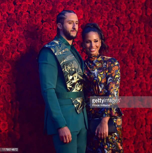 Colin Kaepernick and Nessa Diab attend Tyler Perry Studios Grand Opening Gala Arrivals at Tyler Perry Studios on October 5 2019 in Atlanta Georgia
