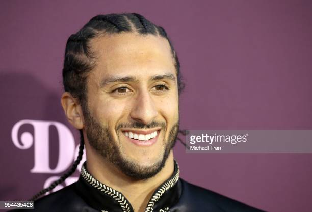 Colin Kaepernick arrives to VH1's 3rd Annual 'Dear Mama A Love Letter To Moms' held at The Theatre at Ace Hotel on May 3 2018 in Los Angeles...