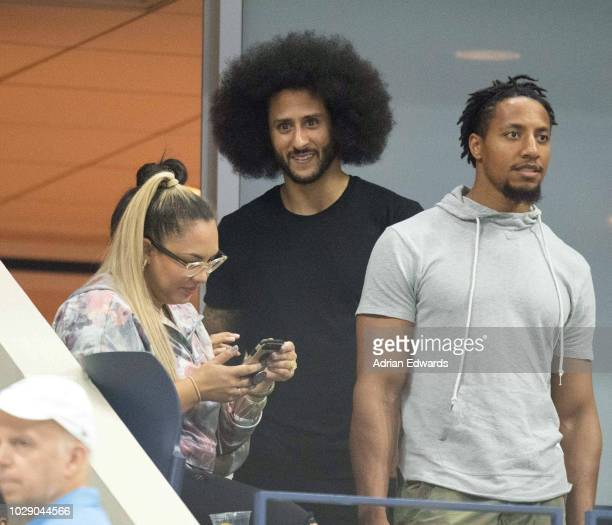 Colin Kaepernick at Day 5 of the US Open held at the USTA Tennis Center in Flushing Meadows Corona Park on August 31 2018 in New York City