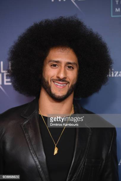 Colin Kaepernick attends as O The Oprah Magazine hosts special NYC screening of A Wrinkle In Time at Walter Reade Theater at Walter Reade Theater on...