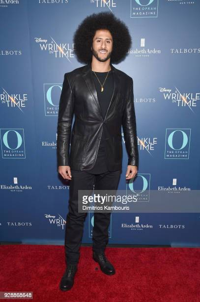 Colin Kaepernick attends as O The Oprah Magazine hosts special NYC screening of 'A Wrinkle In Time' at Walter Reade Theater at Walter Reade Theater...