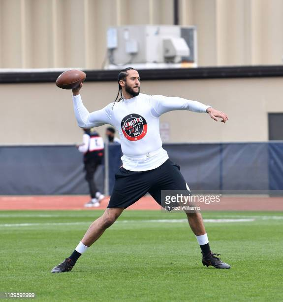 Colin Kaepernick attends Huncho Day on the Nawf 2019: Tam Huncho vs Team AK at Berkmar High School on March 31, 2019 in Lilburn, Georgia.