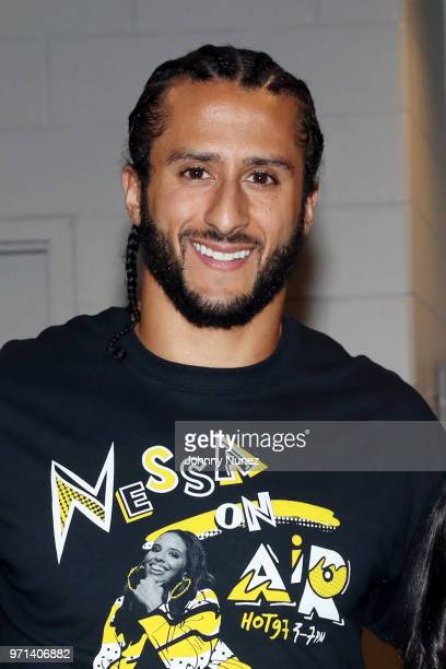 Colin Kaepernick attends Summer Jam 2018 at MetLife Stadium on June 10 2018 in East Rutherford New Jersey