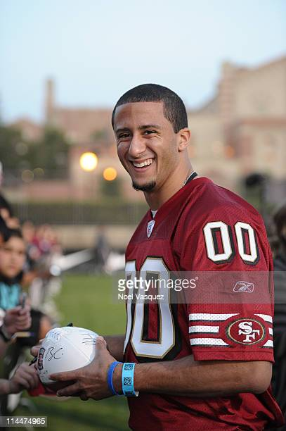 Colin Kaepernick attends the NFL PLAYERS Premiere League Flag Football Game at UCLA on May 20 2011 in Los Angeles California