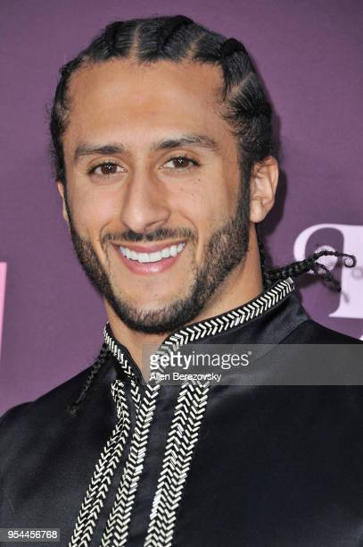 Colin Kaepernick attends VH1's 3rd Annual Dear Mama A Love Letter To Moms at The Theatre at Ace Hotel on May 3 2018 in Los Angeles California