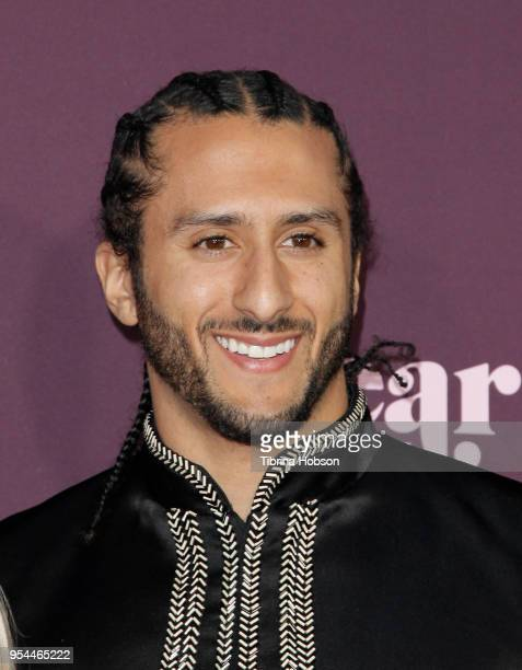 Colin Kaepernick attends VH1's 3rd annual 'Dear Mama A Love Letter To Moms' screening at The Theatre at Ace Hotel on May 3 2018 in Los Angeles...