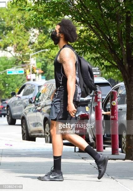 Colin Kaepernick is seen walking in soho in nike gym gear on September 14, 2020 in New York City.
