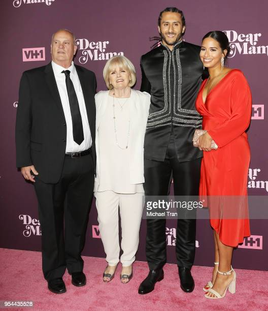 Colin Kaepernick with his parents Teresa Kaepernick Rick Kaepernick and girlfriend Nessa Diab arrive to VH1's 3rd Annual 'Dear Mama A Love Letter To...