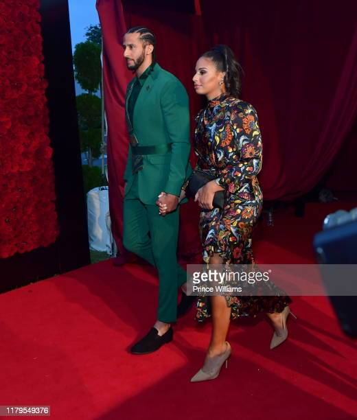 Colin Keapernick and Nessa Diab attend Tyler Perry Studios Grand Opening Gala Arrivals at Tyler Perry Studios on October 5 2019 in Atlanta Georgia