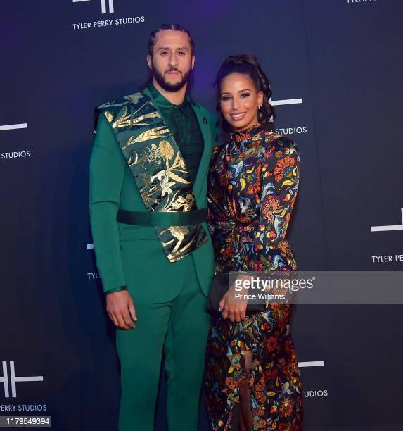Colin Keapernick and Nessa Diab attend Tyler Perry Studios Grand Opening Gala - Arrivals at Tyler Perry Studios on October 5, 2019 in Atlanta,...