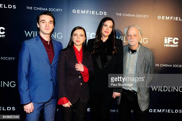 Colin KellySordelet Bel Powley Liv Tyler and Brad Dourif attend The Cinema Society Gemfields host a special screening of IFC Midnight's Wildling at...